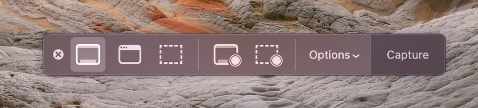 How to screenshot on Mac - shift + command + 5 to pull up the Screenshots app menu in macOS