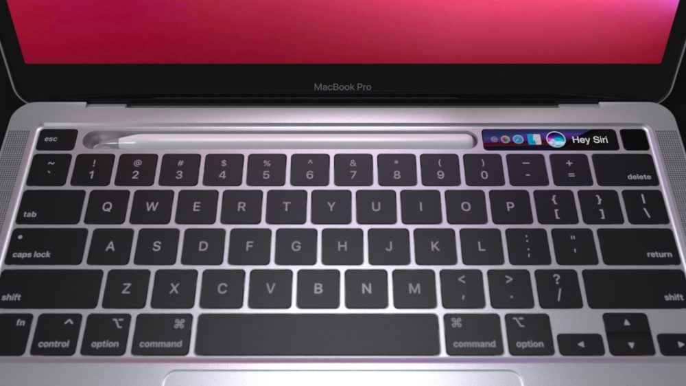 Concept Replaces MacBook Pro's Touch Bar With Apple Pencil Dock