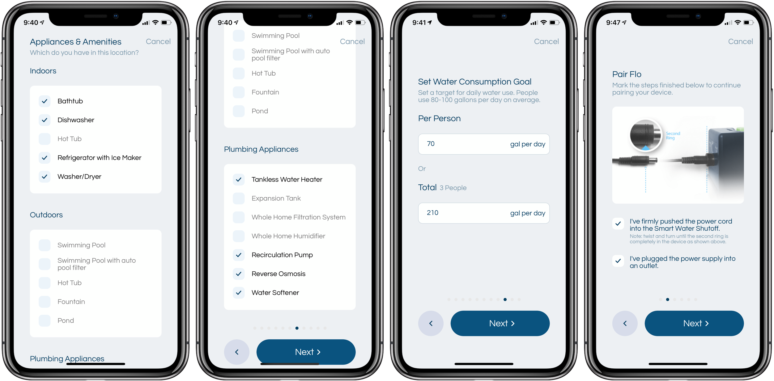 Review Moen Flo Smart Water Shutoff app set up 2