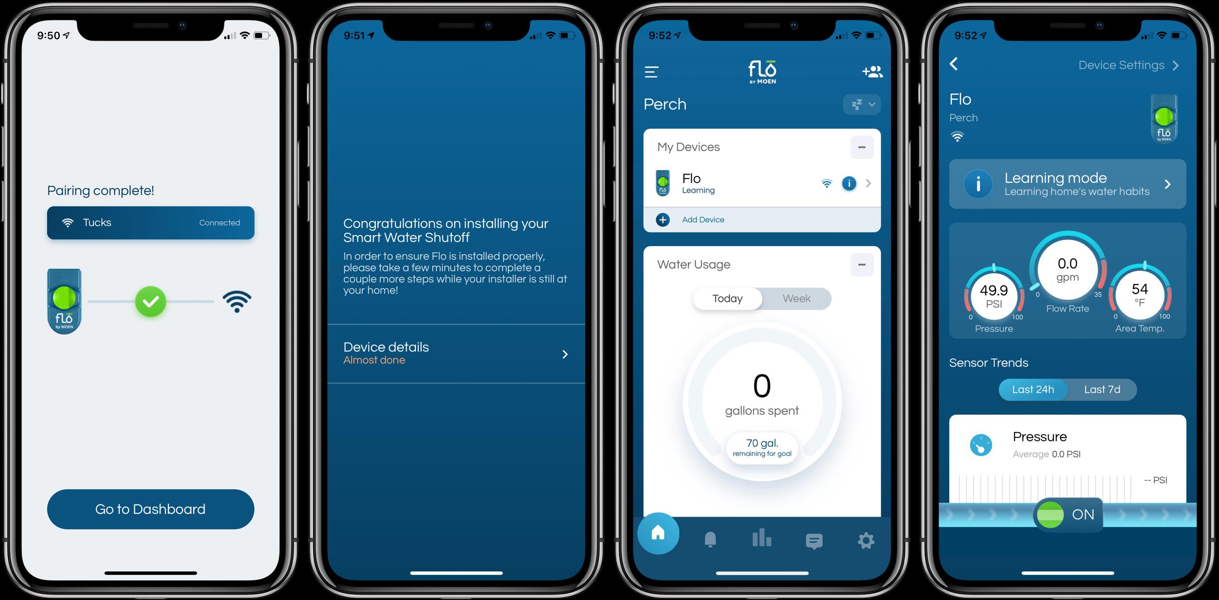 Review Moen Flo Smart Water Shutoff app set up 3