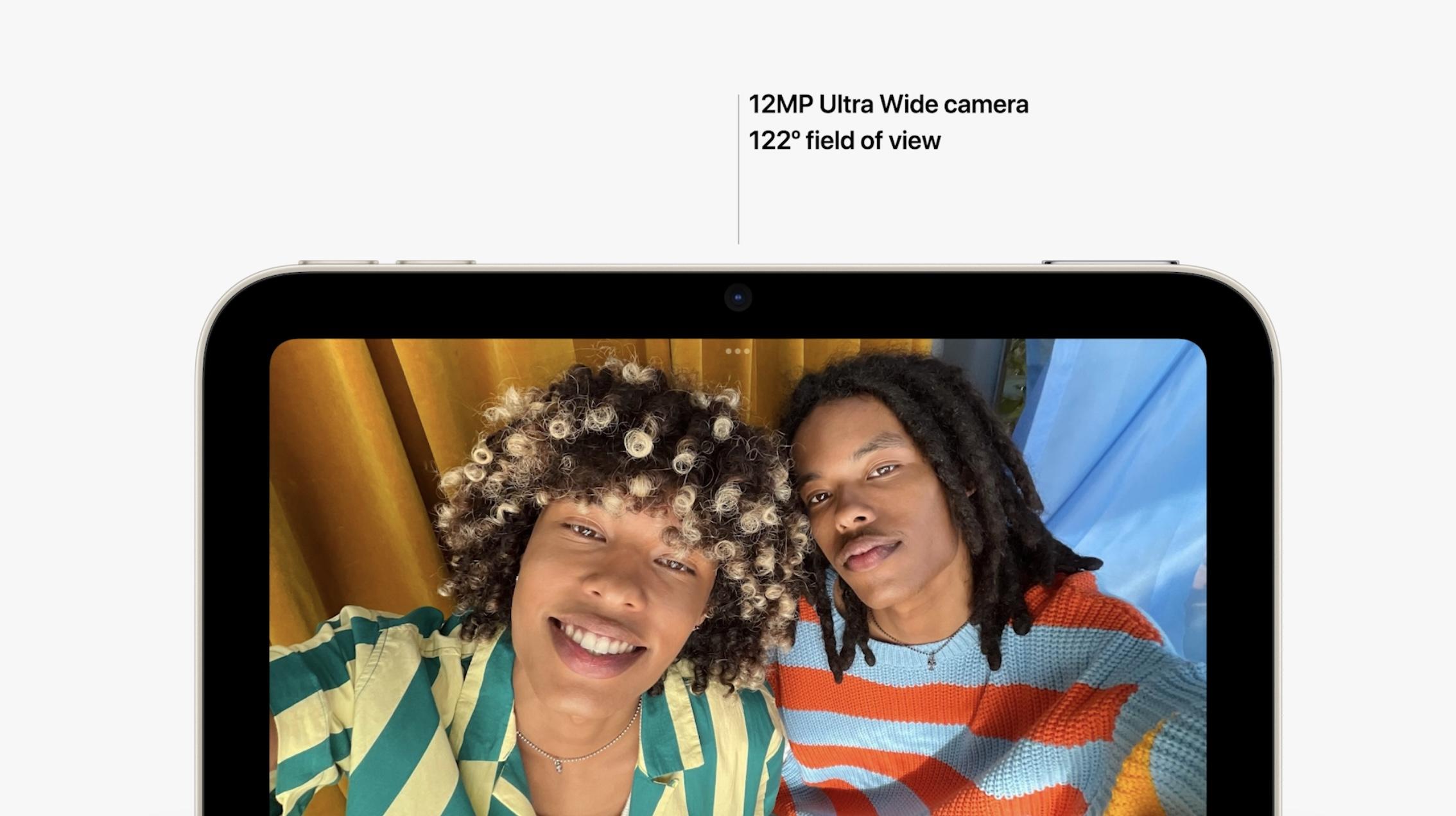 nouvel iPad mini vs iPad mini 5 - appareils photo