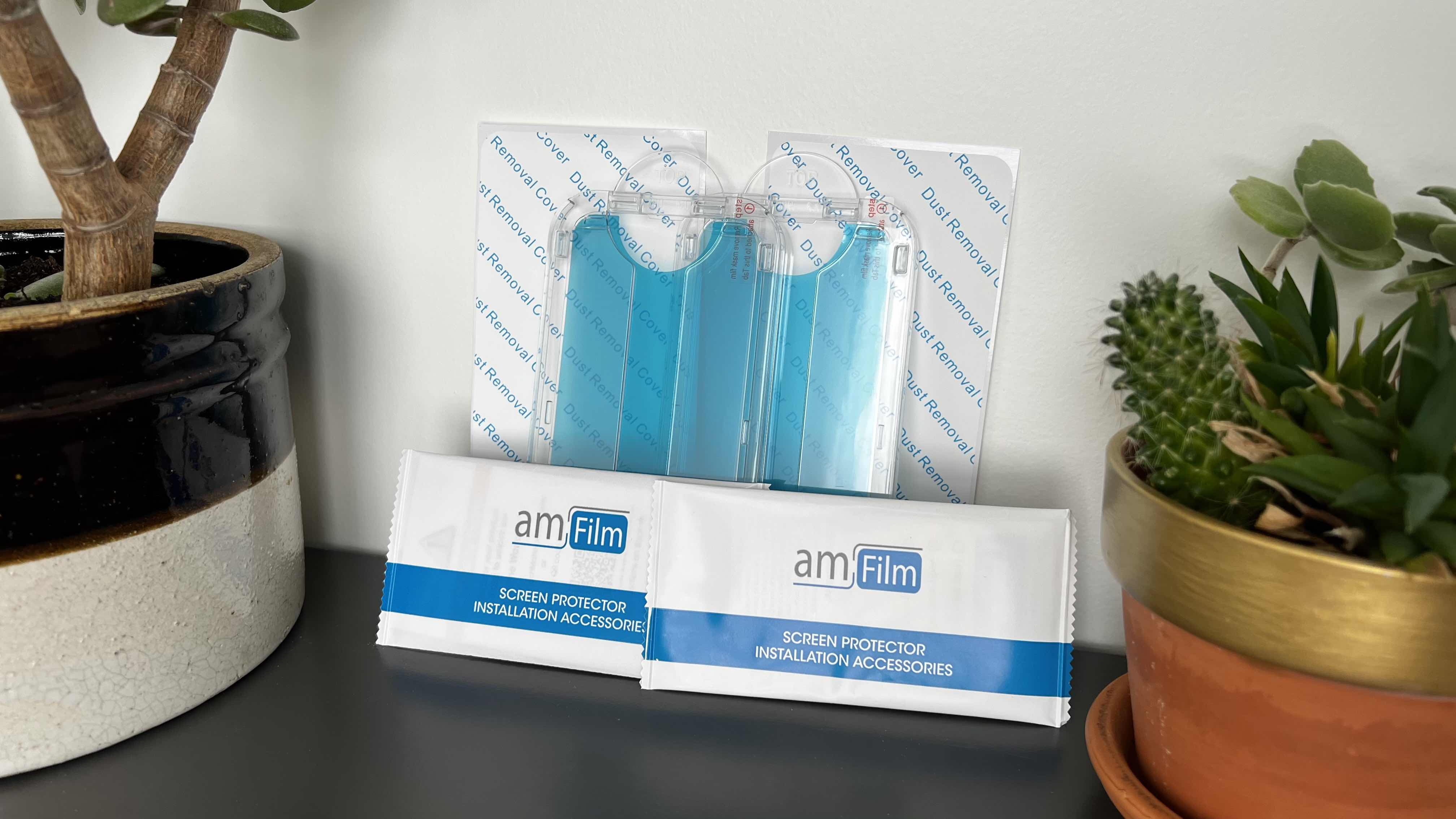amFilm OneTouch Glass Screen Protectors for iPhone 13 - everything included in the box