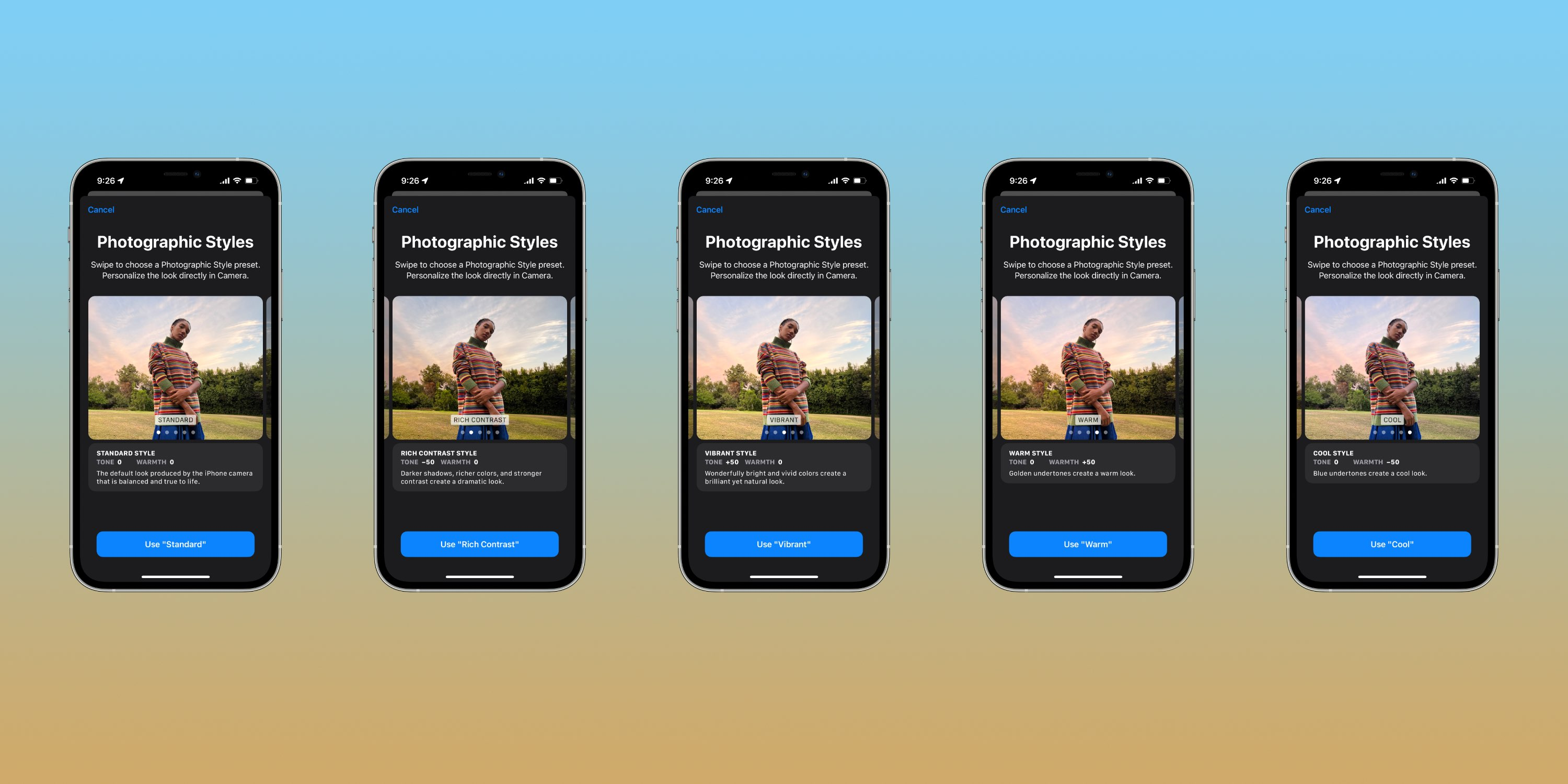 How to use iPhone 13 Photographic Styles - Settings > Camera > Photographic Styles