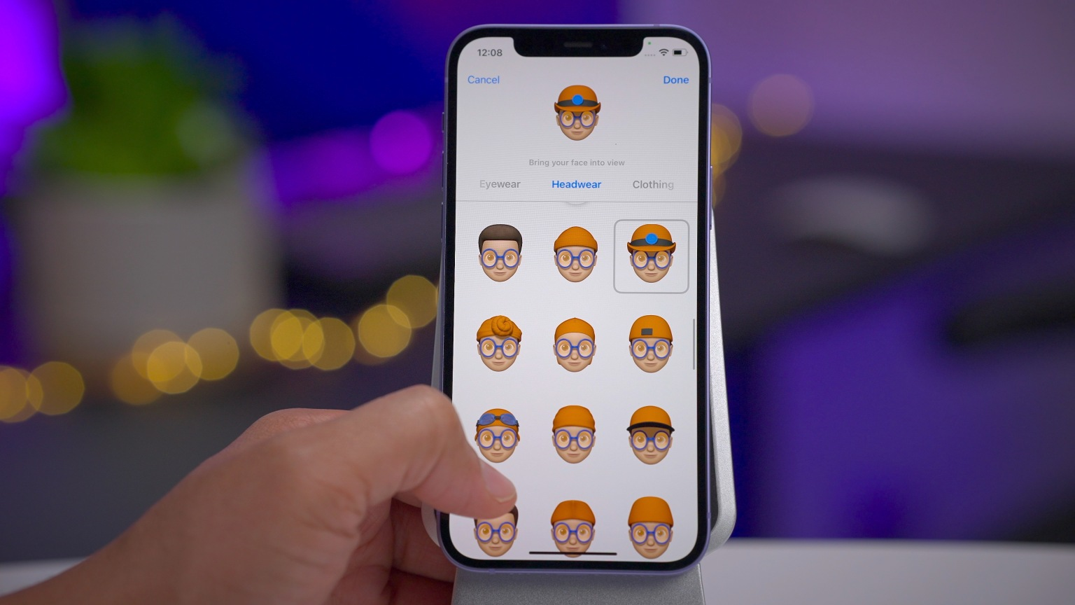The picture shows how a user can upgrade their Emoji using various options available in the new iOS 15 update