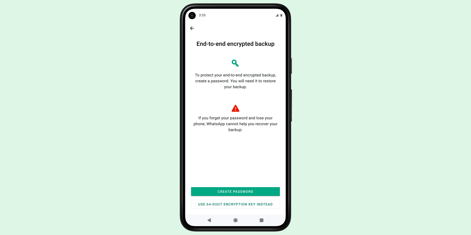 photo of WhatsApp end-to-end encrypted backups rolling out; may put pressure on Apple image