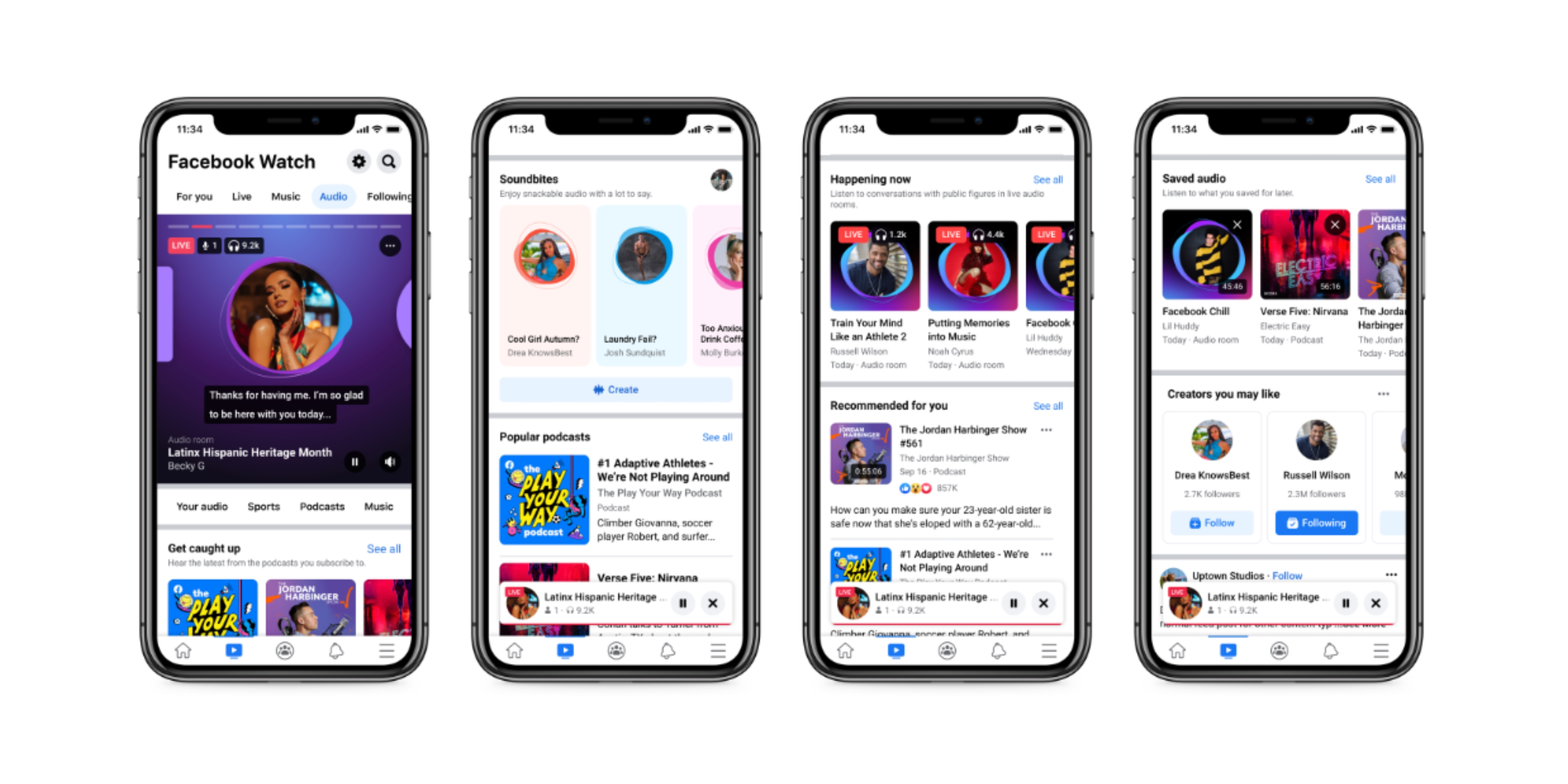 Facebook adds new 'Audio' tab with podcasts, live audio, more