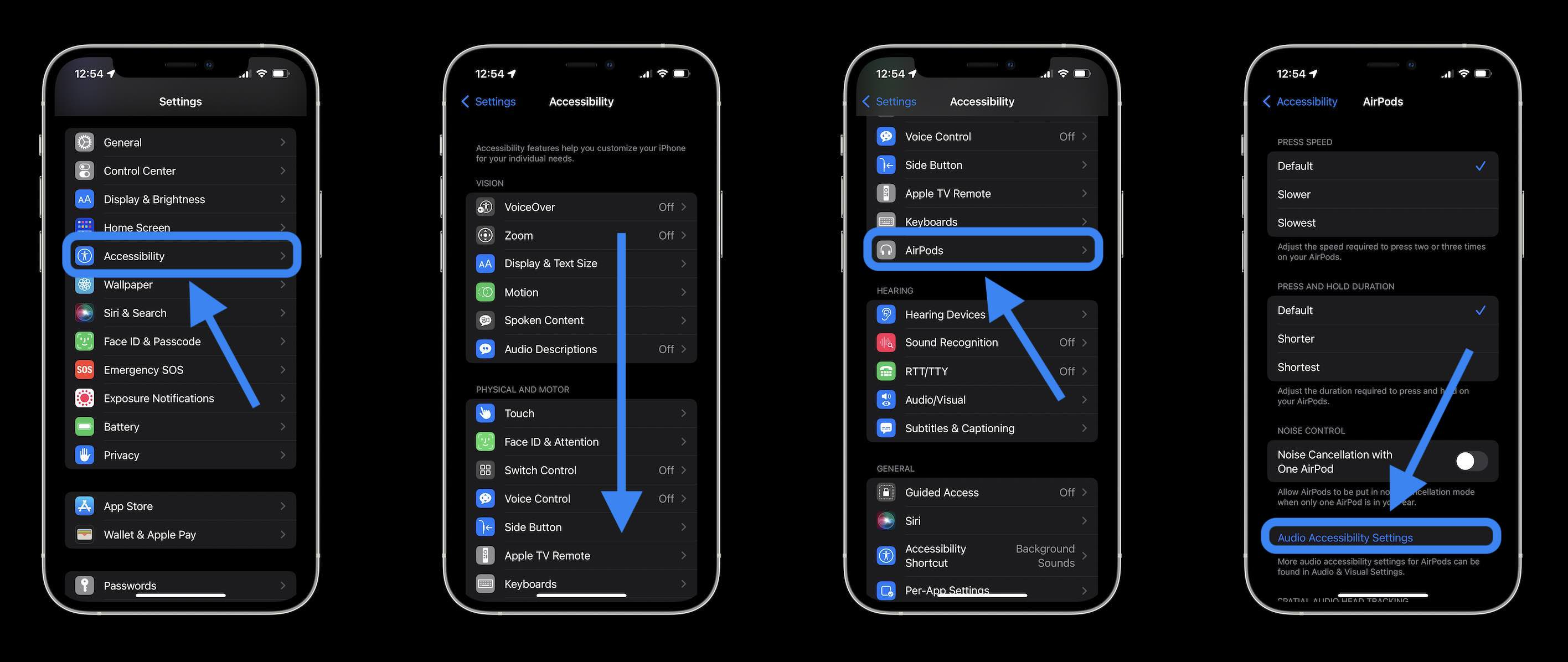Turn on AirPods Pro Conversation Boost - Settings > Accessibility > AirPods > Audio Accessibility Settings