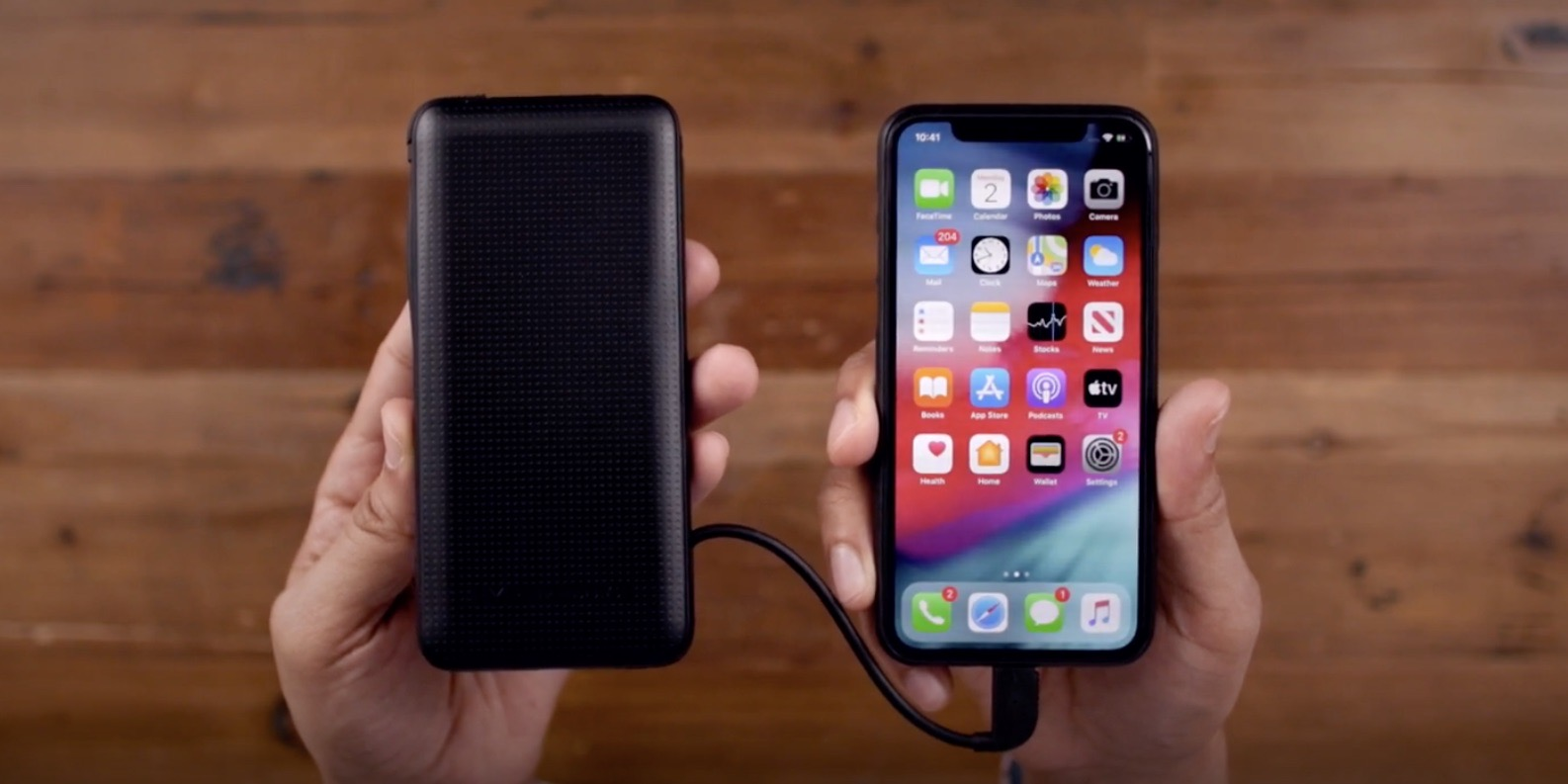 HyperJuice USB-C + Lightning Battery iPhone fast charging
