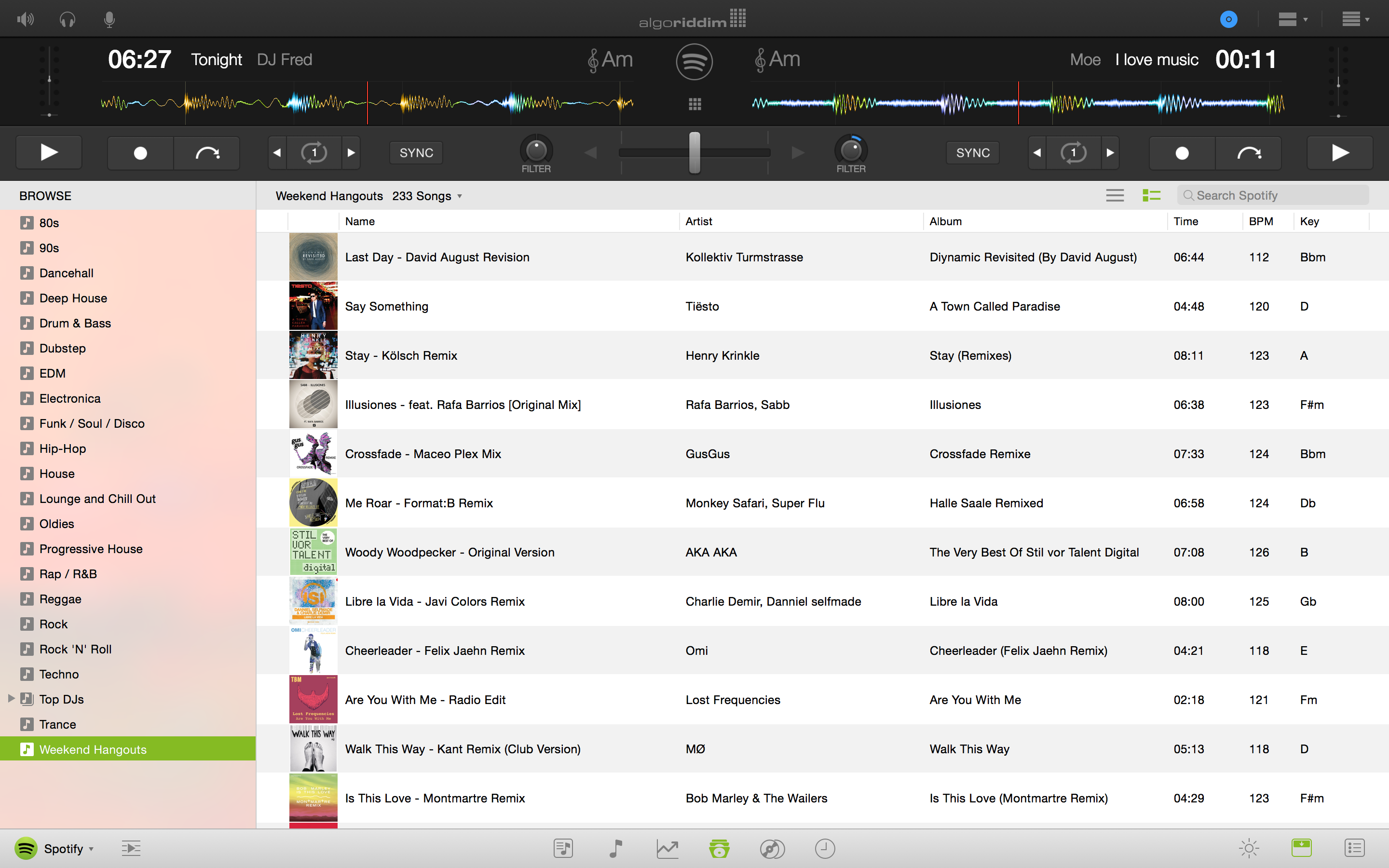 djay Pro Spotify Light Mode