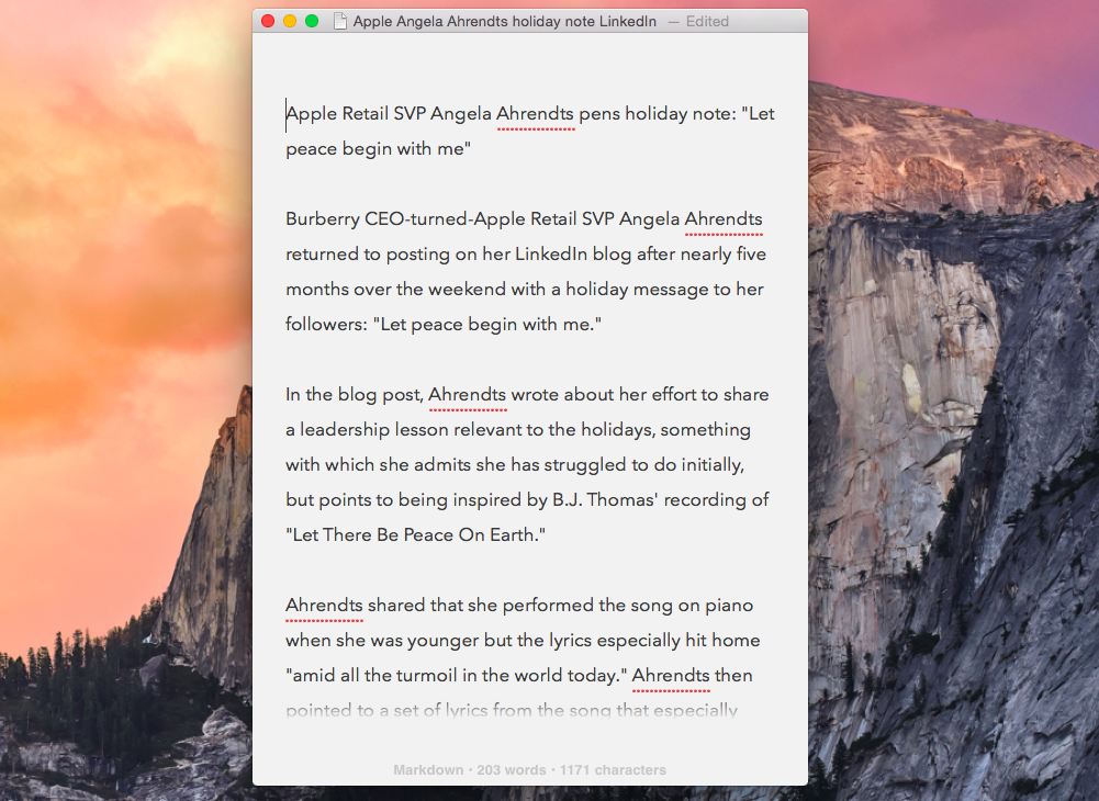 Byword for Mac